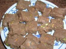 Pistazien-Schnittpralinen - eine kleine, wenn auch nicht kalorienarme Leckerei - Rezept