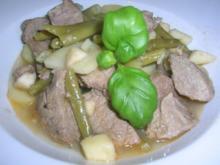 Bohnen-Lamm-Topf mit Weißwein (ein südafrikanisches Gericht) - Rezept
