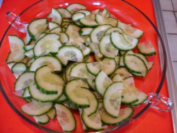 Gurkensalat süss-sauer - Rezept - Bild Nr. 10