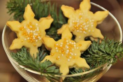 Adventskalender 13. Tag: Orangen-Nougat-Sterne - Rezept