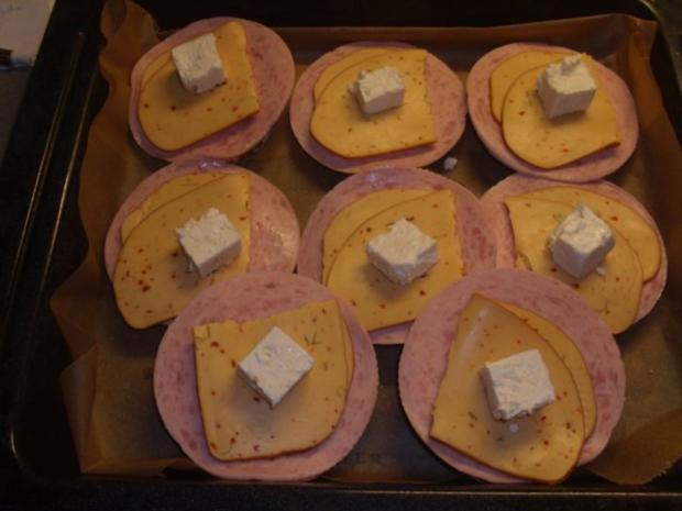 Vollkornbrötchen mit Räucherkäse überbacken - Rezept - Bild Nr. 6