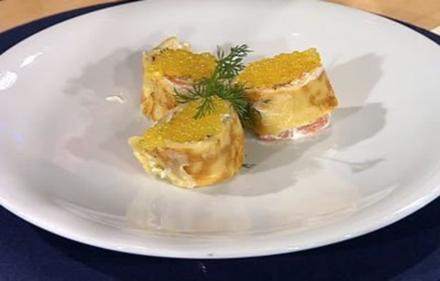 Schnelle Lachsröllchen mit Kaviar-Krone (Männer) - Rezept