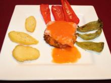 Im Ofen gegartes Lachsfilet mit Gemüse - Rezept