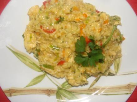 Geflügel : Hähnchen - Gemüserisotto - Rezept