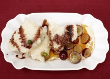 Rezept: Grießnockerl mit Trauben- und Orangenfilets (Sandra Steffl)