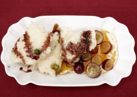 Grießnockerl mit Trauben- und Orangenfilets (Sandra Steffl) - Rezept