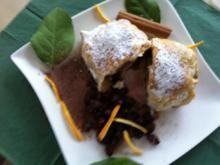 Bratapfel im Mäntelchen.. mit Rotweinrosinen und Schoko –Zimt-Zucker - Rezept