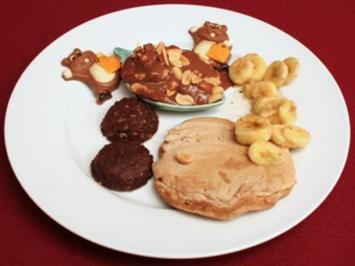 Bananen-Pancakes mit Erdnuss-Eis - Rezept