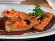Kalbsschnitzel unter der Möhrenhaube (Männer) - Rezept