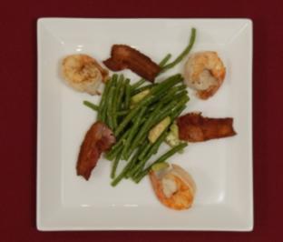 Scampis auf Keniabohnensalat - Traumhochzeit (Heike Maurer) - Rezept