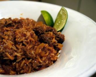 Scharfer Hackfleisch-Reis-Topf - Rezept