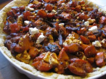 Kürbis Feta Tarte aus Frankreich - Rezept