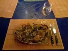 Geflügel: Harissa-Hähnchen mit Backofengemüse - Rezept