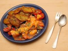Räucherlachs mit Frischkäse-Senf-Soße - Rezept