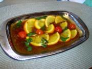 Jus mit Orangen- und Zitronenstücken - Rezept