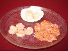 Jakobsmuscheln, Lachstatar und Hummercarpaccio an Zitronenschaum - Rezept