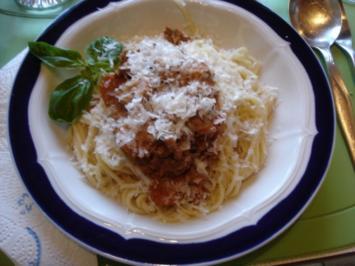 Gemüse Bolognese mit Spaghetti - Rezept