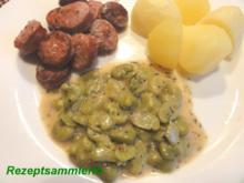 Gemüse:   JUNGE GROSSE BOHNEN ohne Schale - Rezept