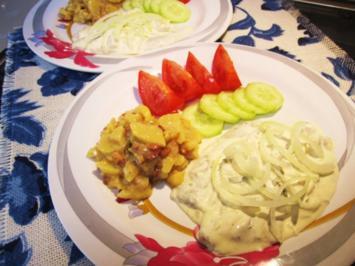 Schmandheringe mit Salatgarnitur ... - Rezept