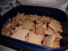 Plätzchen: Butter-Haselnuss-Sterne - Rezept