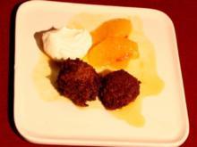 Heiße Schokoladenpralinen mit Chili-Orangenragout - Rezept