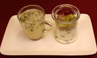 Weiße Schokocrème mit Weintrauben - Rezept