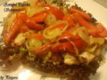 Paprika- Zwiebel-Schnitzel - Rezept