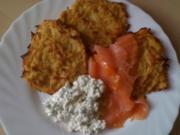 Leo´s  Kartoffelpuffer mit Räucherlachs - Rezept