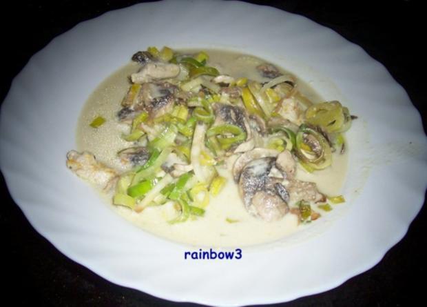 Kochen: Hähnchen-Pilz-Porree-Auflauf - Rezept