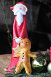 Adventskalender 6. Tag: Klosamännle (Nikolaus) aus Hefeteig - Rezept