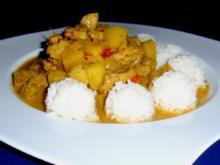 Ananas-Curry-Filet mit Basmatireis - Rezept
