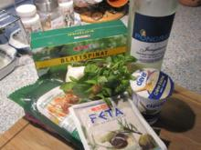 Schweinslungenbraten mit Blattspinat-Schafskäsefüllung in pikanter Weißweinsauce - Rezept