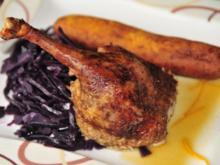 Adventskalender 24. Tag: Ente à l' Orange, gebackene Kartoffelnudeln und Glühweinblaukraut - Rezept