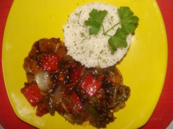 Geflügel : Süßsaure Hähnchenbrust mit Gemüse - Rezept