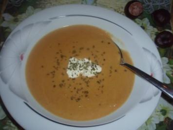 Suppe: Cremige Maronisuppe - Rezept