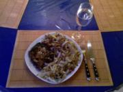 Fleisch: Asia-Kotelett mit geschmorten Chinakohl - Rezept