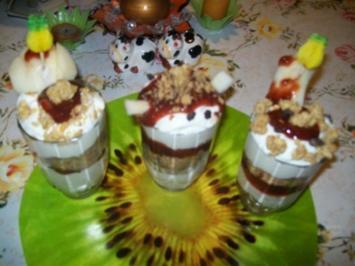 Irenes Fantasie - Quark- Dessert alles was ich noch so hatte rein ins Glas geschichtet ! - Rezept