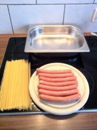 Spagetti Bockwurst Monster - Rezept