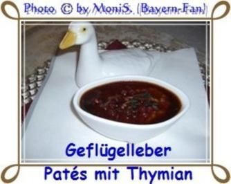 Geflügelleber - Patés mit Thymian - Rezept