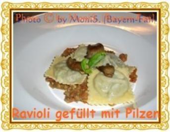 Ravioli gefüllt mit Pilzen - Rezept