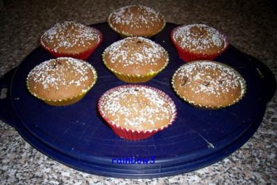 Backen: Nougat-Schoko-Muffins - Rezept