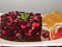 Adventskalender 18. Tag: Rote-Bete-Tartar - Rezept