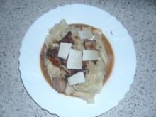 Fettuccine mit Hähnchen-Speck-Soße - Rezept