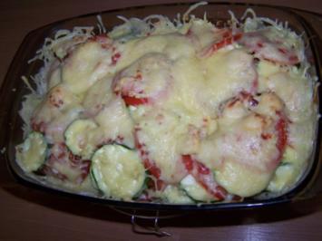 Tomaten-Zucchini-Auflauf mit Putenbrust - Rezept
