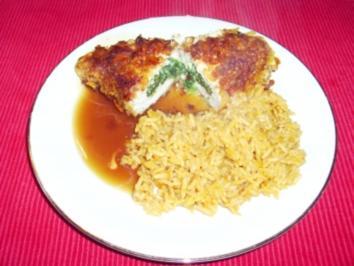 Rezept: Gefüllte Hähnchenbrust mit Spinat und Mozzarella