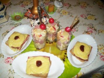 Irenes Käse- Schinken - Salat mal ganz anders mit Toast -Hawai - Rezept