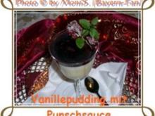 Vanillepudding mit Punschsauce - Rezept