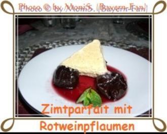 Zimtparfait  mit Rotweinpflaumen - Rezept