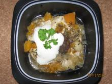 Kürbis - Hähnchen aus dem Töpfchen - Rezept