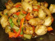Hühnerfleisch süß-sauer - Rezept